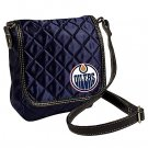 Edmonton Oilers Littlearth Quilted Cross-Body Purse Bag