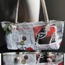 University of Georgia Bulldogs Newspaper Hobo Purse Bag