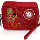 University of Alabama Crimson Tide Corduroy Cosmetic Makeup Bag Wristlet