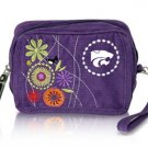 Kansas State University KSU Wildcats Corduroy Cosmetic Makeup Bag Wristlet