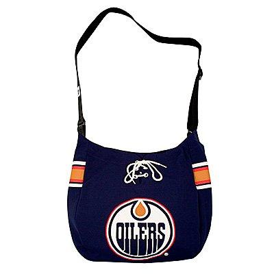 Edmonton Oilers Littlearth Hat Trick Hockey Jersey Tote Bag Purse Gift