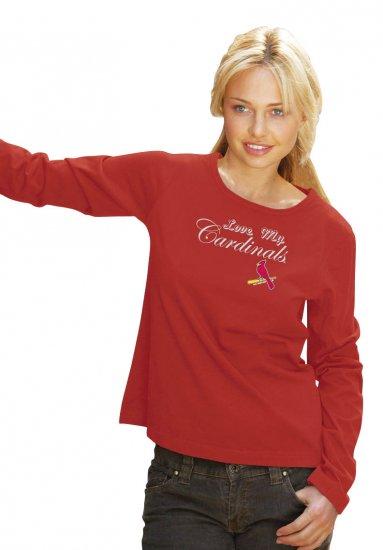 St. Louis Cardinals Love My Cardinals Women's Tee Shirt Medium
