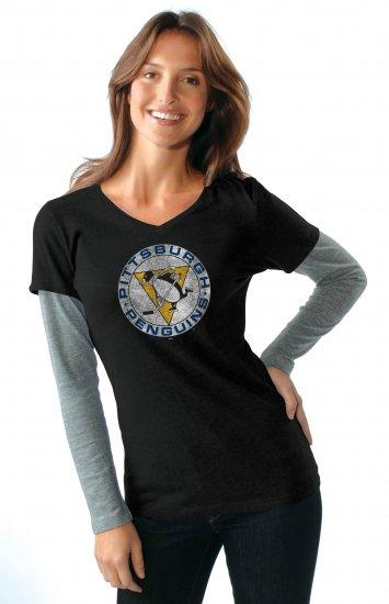 Pittsburgh Penguins Vintage Touch - Alyssa Milano Women's Tee Shirt S