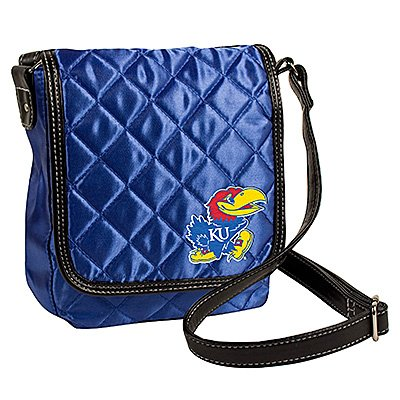 University of Kansas Jayhawks Littlearth Quilted Cross-Body Purse Bag