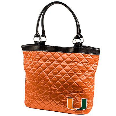 University of Miami Hurricanes Littlearth Quilted Tote Bag Purse
