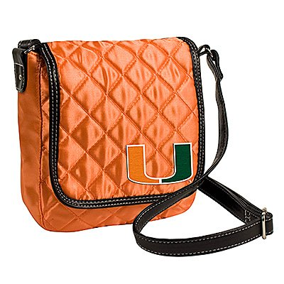 University of Miami Hurricanes Littlearth Quilted Cross-Body Purse Bag