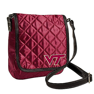 Virginia Tech University Hokies Littlearth Quilted Cross-Body Purse Bag