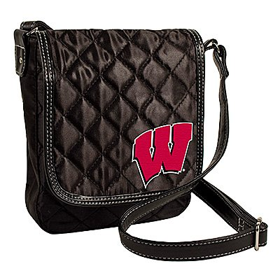 University of Wisconsin Badgers Littlearth Quilted Cross-Body Purse Bag