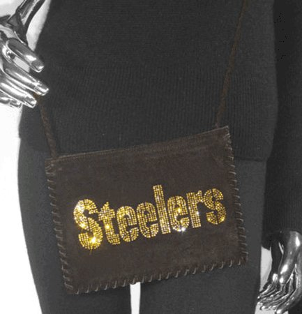 Pittsburgh Steelers Suede and Crystals Side Bag Purse