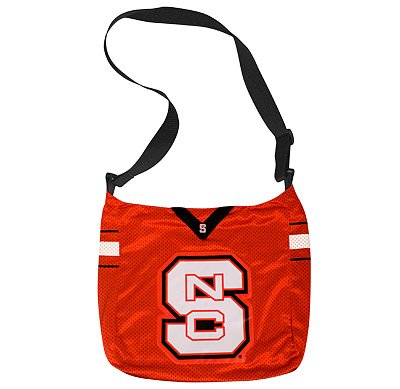 North Carolina NC State University Wolfpack Littlearth Football Jersey Tote Bag Purse