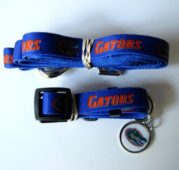 University of Florida Gators Pet Dog Set Leash Collar ID Tag Large