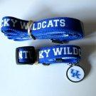 University of Kentucky Wildcats Pet Dog Set Leash Collar ID Tag Large