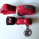 South Carolina University Gamecocks Pet Dog Set Leash Collar ID Tag Medium