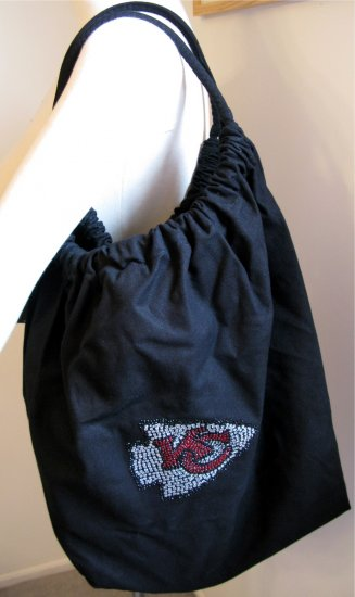 Kansas City Chiefs B for Betsy Crystals Canvas Bag Large Purse