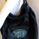 New York Jets B for Betsy Crystals Canvas Bag Large Purse