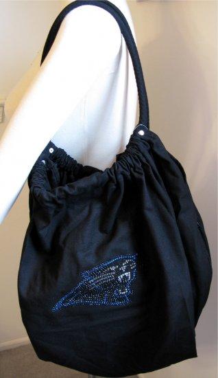 Carolina Panthers B for Betsy Crystals Canvas Bag Large Purse