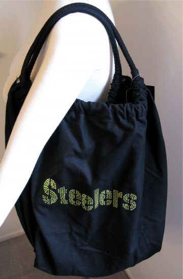 Pittsburgh Steelers B for Betsy Crystals Canvas Bag Large Purse