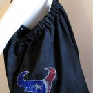 Houston Texans B for Betsy Crystals Canvas Bag Large Purse