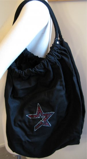 Houston Astros B for Betsy Crystals Canvas Bag Large Purse