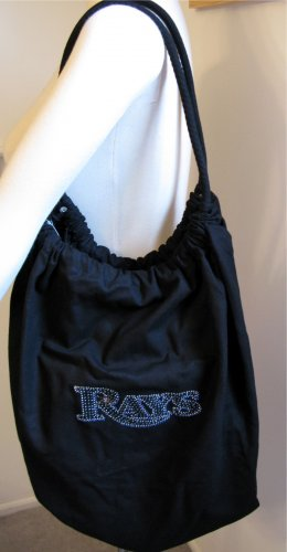Tampa Bay Rays B for Betsy Crystals Canvas Bag Large Purse