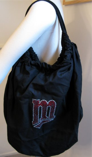 Minnesota Twins B for Betsy Crystals Canvas Bag Large Purse