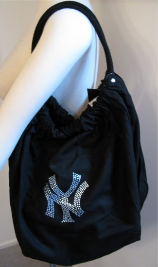 New York Yankees B for Betsy Crystals Canvas Bag Large Purse