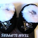 Pittsburgh Penguins Fuzzy Baby Slippers Booties 6-9 Months