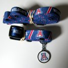 Arizona University Wildcats Pet Dog Set Leash Collar ID Tag Small
