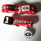 University of Georgia Bulldogs Pet Dog Set Leash Collar ID Tag Small