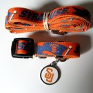 Syracuse University Orangemen Pet Dog Set Leash Collar ID Tag Small