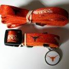 University Of Texas Longhorns Pet Dog Set Leash Collar ID Tag Large