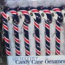 Columbus Blue Jackets Candy Cane Christmas Tree Ornament Set Gift