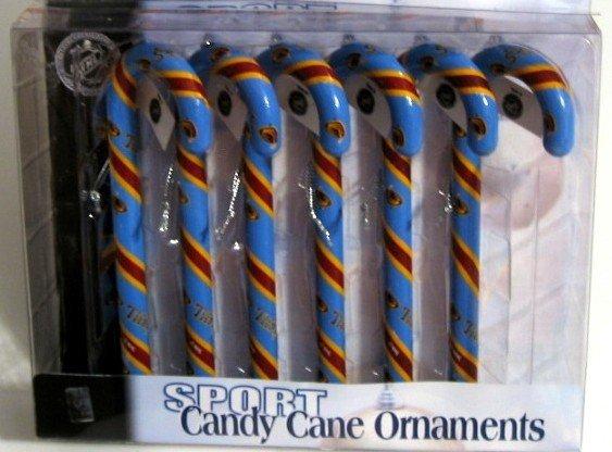 Atlanta Thrashers Candy Cane Christmas Tree Ornament Set Gift