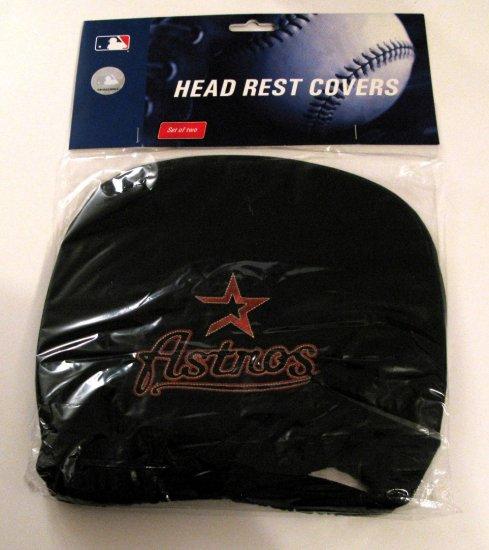 Houston Astros Auto Car Head Rest Covers Set Gift