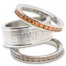 Cleveland Browns Team Crystal Stacked Rings Set