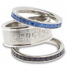 San Diego Chargers Team Crystal Stacked Rings Set