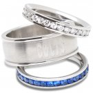 Indianapolis Colts Team Crystal Stacked Rings Set