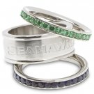 Seattle Seahawks Team Crystal Stacked Rings Set