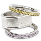 Minnesota Vikings Team Crystal Stacked Rings Set