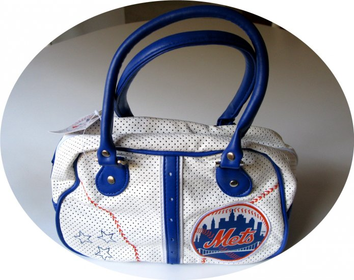 New York Mets Bowler Bowling Purse Hand Bag