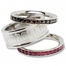 South Carolina University Gamecocks Team Crystal Stacked Rings Set