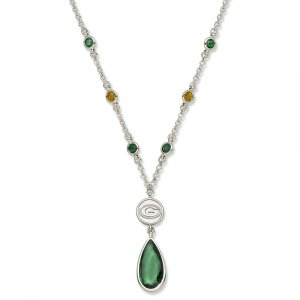 Green Bay Packers Team Color Crystal Logo Necklace