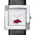 Arkansas University Razorbacks Glamour Ladies Fashion Watch