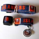 New York Islanders Pet Dog Leash Set Collar ID Tag Size Small