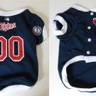 Minnesota Twins Pet Dog Baseball Jersey w/Buttons Small
