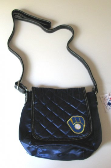 Milwaukee Brewers Littlearth Quilted Cross-Body Purse Bag