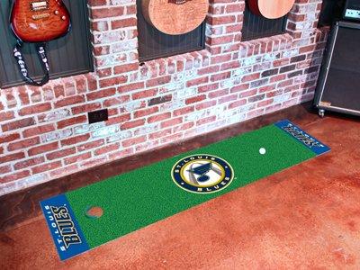 St. Louis Blues Golf Putting Green Mat Carpet Runner