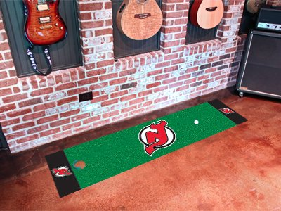 New Jersey Devils Golf Putting Green Mat Carpet Runner