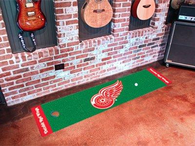 Detroit Red Wings Golf Putting Green Mat Carpet Runner