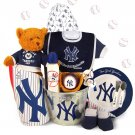 New York Yankees Baby Spring Training Starter Kit Gift Set Basket